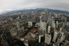 View from KL Tower to the Petronas Towers