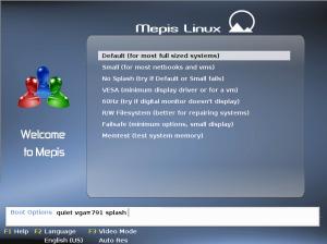 SimplyMEPIS Startbildschirm