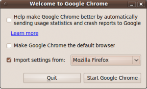 Google Chrome Import