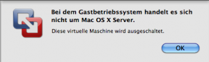 VMWare kein Mac OS X Server