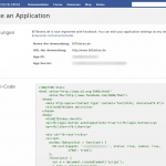 Facebook Application ID anlegen