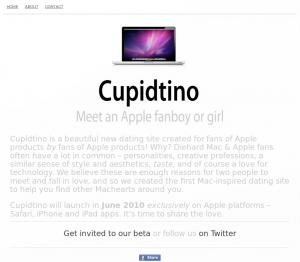Cupidtino Dating-Seite für Apple-Fans