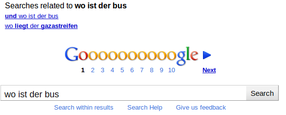 Google Bus Gazastreifen