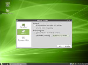 Linux Mint Desktop Einstellungen