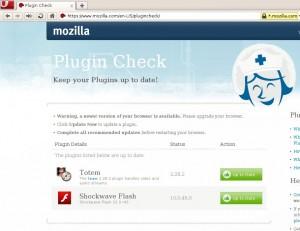 Mozilla Plugin Check Opera 10.5 Linux