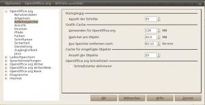 OpenOffice.org Arbeitsspeicher-Optionen anpassen
