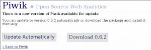 Piwik automatisches Update