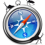 Safari Logo mit Bug