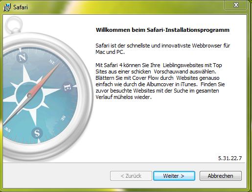 Installer safari pour windows xp