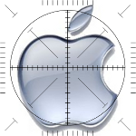 Apple Logo Fadenkreuz