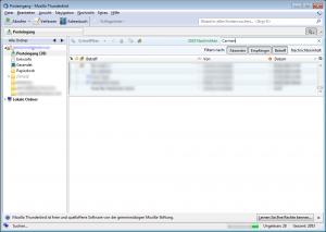 Mozilla Thunderbird 3.1 Schnellfilter
