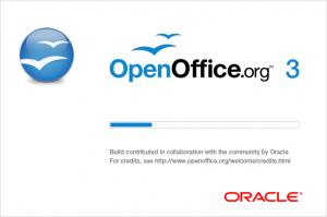 Begrüßungs-Bildschrim OpenOffice.org Oracle