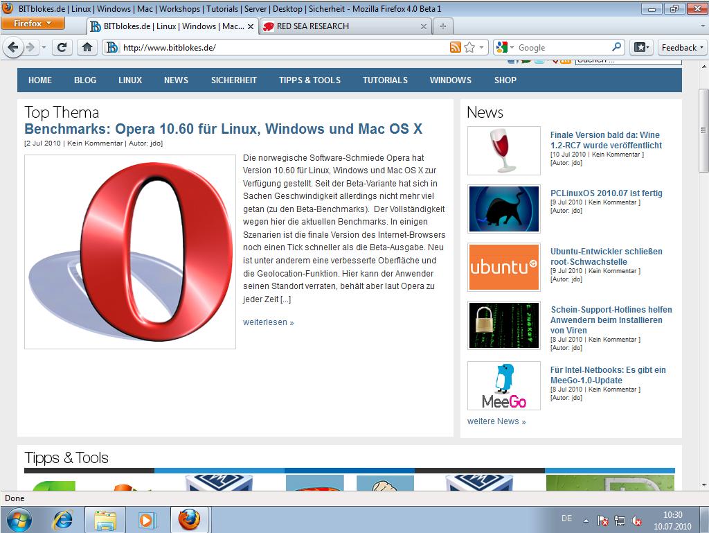 Firefox 4 Beta 1 als Portable App verfügbar » Linux | Spiele