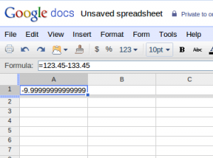 Google Docs Rechenfehler