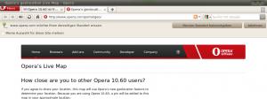 Opera 10.60 Geolocation
