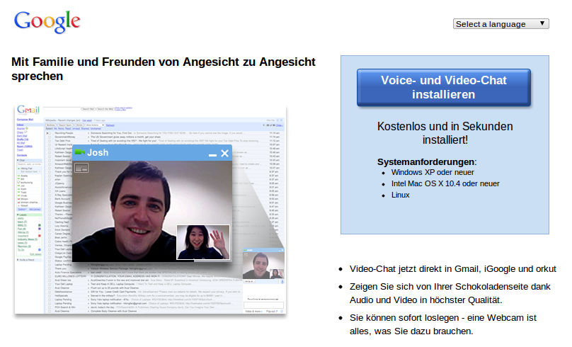 Google Mail Video Chat