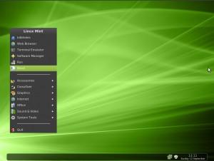 Linux Mint 9 Fluxbox Word im Menü