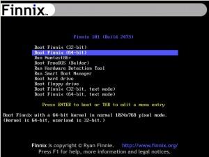 Finnix 101 Bootscreen