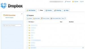 Dropbox Webzugriff