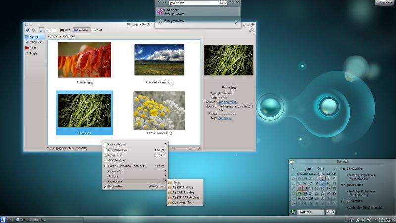 KDE 4.7 Desktop