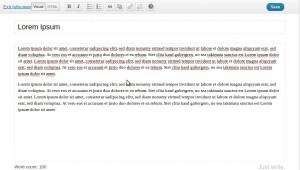Wordpress 3.2 Vollbildschirm-Schreibfläche