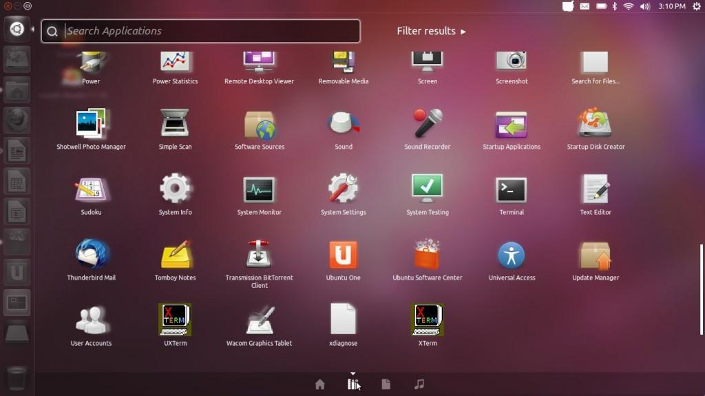 """Ubuntu 11.10 """"Oneiric Ocelot"""" Dashboard"""