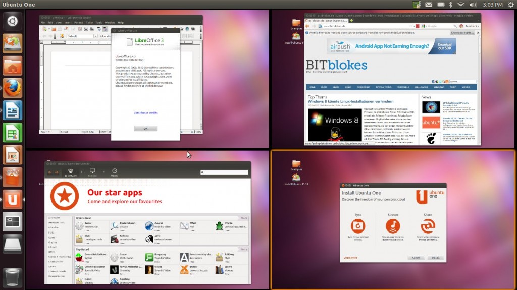 "Ubuntu 11.10 ""Oneiric Ocelot"" Workspaces"