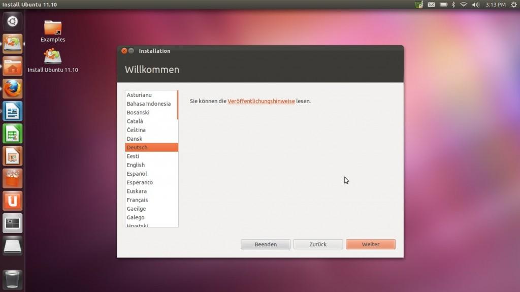 """Ubuntu 11.10 """"Oneiric Ocelot"""" installieren"""