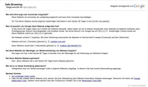 Malware auf der Webseite