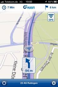 Das Örtliche App Navigation