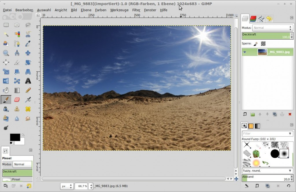 GIMP - Einzelfenster-Modus