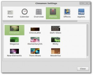 Cinnamon 1.2 Konfiguration Themes