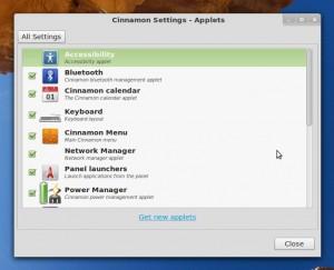Cinnamon 1.3: Applets