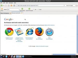TinyMe 2012.03.05 Netsurf kein JavaScript Google Plus