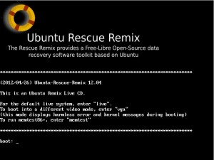 Ubuntu Rescue Remix 12.04