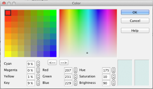 OpenOffice 3.4 Color Picker