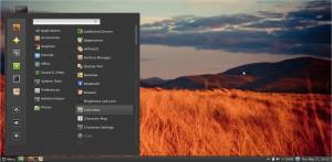 Linux Mint 13 Cinnamon Menü