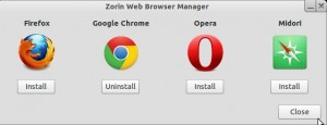Zorin OS 6 Core Browser Changer