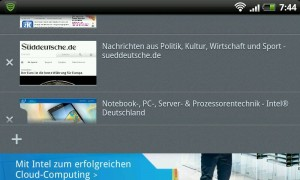 Firefox 14 für Android: Tabs