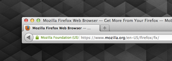 Firefox 14 Identitäts-Anzeige Extended Validation