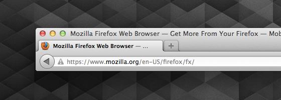 Firefox 14 Identitäts-Anzeige Gemischt