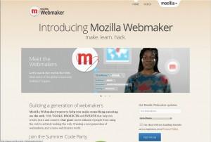 Mozilla Webmaker Webseite