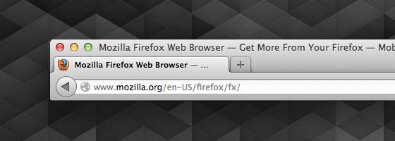 Firefox 14 Identitäts-Anzeige normal