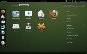 openSUSE 12.2 Applikationen