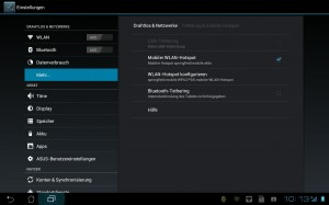 Asus Eee Pad Transformer: mobiler Hotspot