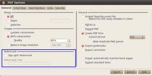 LibreOffice 3.6.1: PDF-Export mit Wasserzeichen