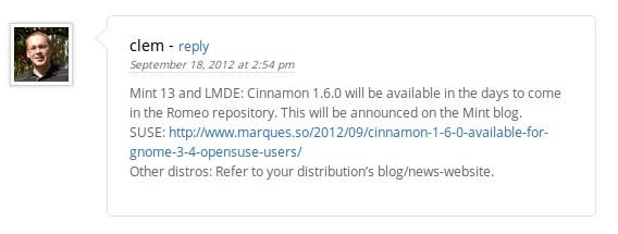 Cinnamon 1.6.0 für Mint 13, LMDE und openSUSE