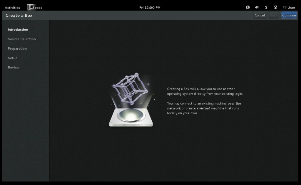 GNOME 3.6: Virtuelle Maschinen mit Boxes