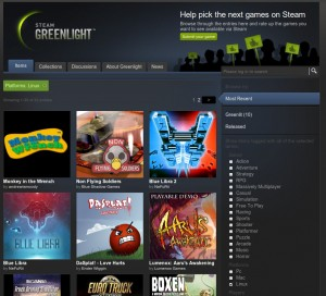 Steams Greenlight mit Linux als Plattform-Filter
