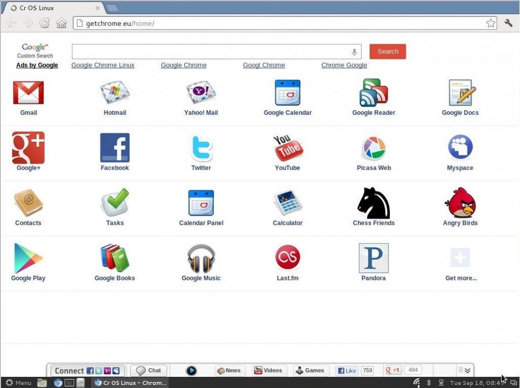 Cr OS Linux: Chromium